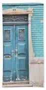 Blue Door, Portugal Bath Towel