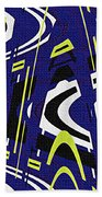 Blue Drawing Abstract Hand Towel