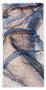 Blue Fabric Bath Towel