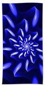 Blue Fantasy Floral Bath Towel