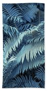 Blue Fern Leaves Abstract. Nature In Alien Skin Bath Towel