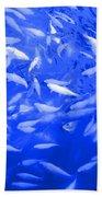 Blue Fish Abstract Bath Towel