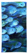Blue Fish Bath Towel