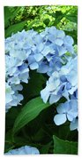 Blue Floral Hydrangea Flower Summer Garden Basle Troutman Bath Towel