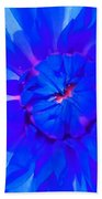Blue Flower Bath Towel