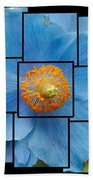 Blue Flower Photo Sculpture  Butchart Gardens  Victoria Bc Canada Bath Towel