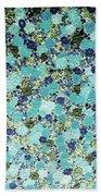 Blue Flowers Bath Towel