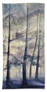 Blue Forest In Winter Bath Towel