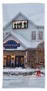 Blue Gate Restaurant Shipshewana In Winter Bath Towel