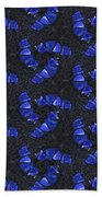 Blue Glass  Bath Towel