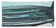 Blue Gray Brush Strokes Abstract Art For Interior Decor V Bath Towel