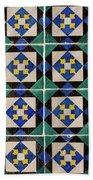 Blue Green Lisbon Tiles Souvenirs Bath Towel