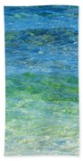Blue Green Waves Bath Towel