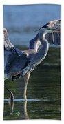 Blue Heron Show-off Bath Towel