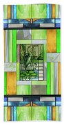 Blue Heron Stained Glass Bath Towel