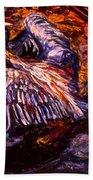 Blue Heron Swirl Bath Towel