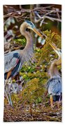 Blue Herons Bath Towel