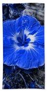 Blue Hibiscus Bath Towel