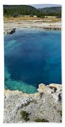 Blue Hot Springs Yellowstone National Park Bath Towel