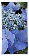 Blue Hydrangea Buds Bath Towel