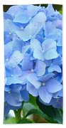 Blue Hydrangea Floral Art Print Hydrangeas Flowers Baslee Troutman Bath Towel