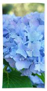 Blue Hydrangea Flowers Art Botanical Nature Garden Prints Bath Towel