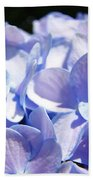Blue Hydrangea Flowers Art Prints Baslee Troutman Bath Towel
