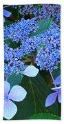 Blue Hydrangea Flowers Floral Art Baslee Troutman Bath Towel