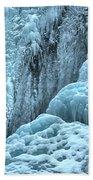 Blue Ice Flows At Tangle Falls Bath Towel