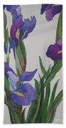 Blue Iris Bath Towel