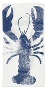 Blue Lobster- Art By Linda Woods Bath Towel