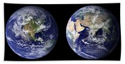 Blue Marble Composite Images Generated By Nasa Bath Towel