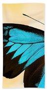 Blue Morpho Closeup Bath Towel