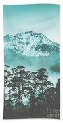 Blue Mountain Winter Landscape Bath Towel
