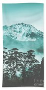 Blue Mountain Winter Landscape Bath Towel
