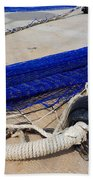 Blue Net Bath Towel