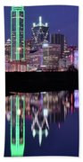 Blue Night And Reflections In Dallas Bath Towel
