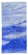 Blue Noon In Western Montana Bath Towel