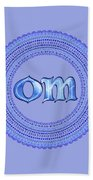 Blue Om Mandala Bath Towel