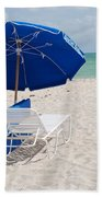 Blue Paradise Umbrella Bath Towel