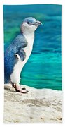 Blue Penguin Bath Towel