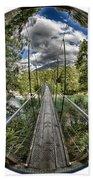 Blue Pools Bridge Bath Towel by Chris Cousins