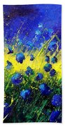 Blue Poppies Bath Towel