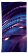 Fractal Wave Blue Purple Bath Towel