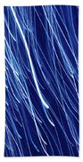 Blue Rain Abstract Bath Towel