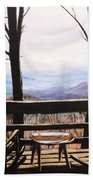 Blue Ridge Mountain Porch View Bath Towel
