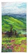 Blue Ridge Mountains Near Asheville Hand Towel