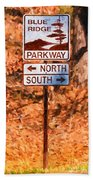 Blue Ridge Parkway Sign Bath Towel