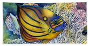 Blue Ring Angelfish Bath Towel