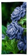 Blue Rose Bath Towel